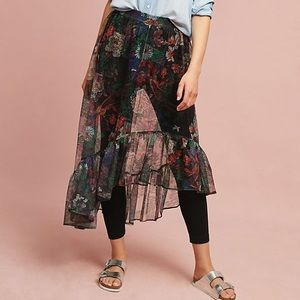 Anthropologie Maeve Floral Skirted Pants